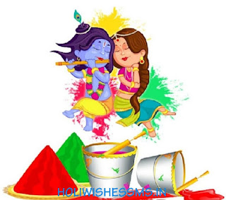 holi drawing scene