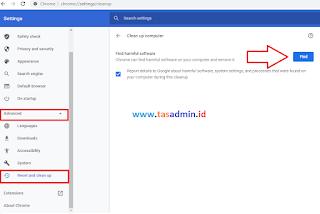 Menghapus Malware di Google Chrome