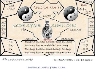 GAMBAR CODE SYAIR TOGEL SINGAPORE, PREDIKSI KODE SYAIR TOGEL SGP SABTU
