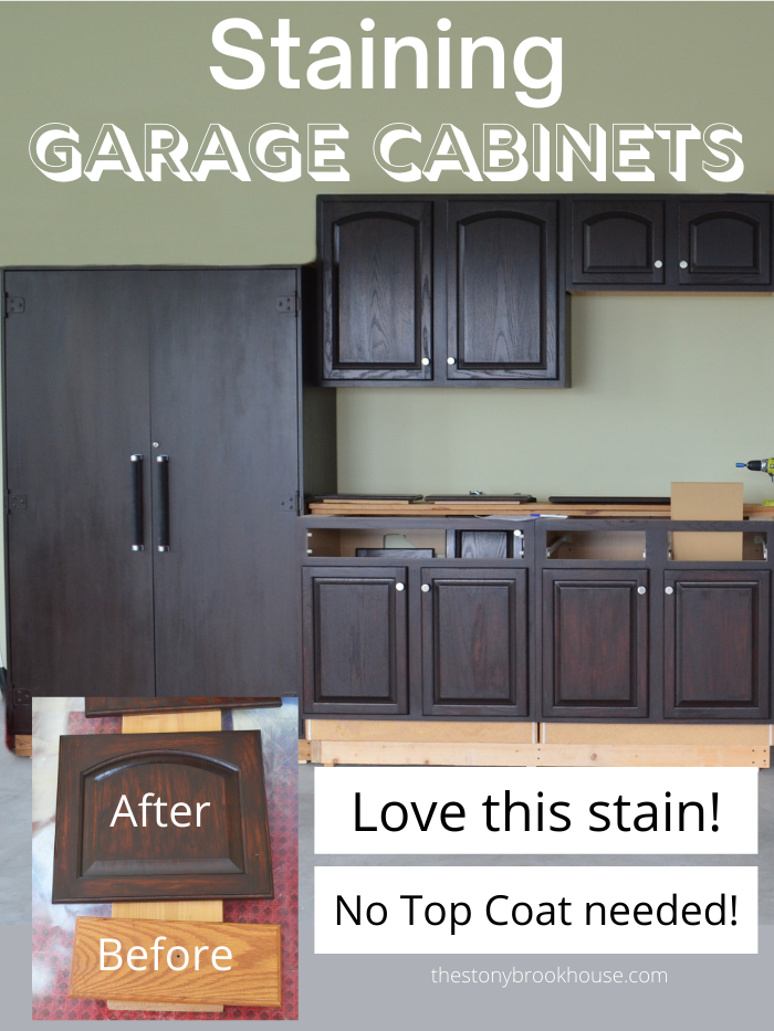 Staining Garage Cabinets