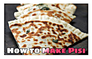 How to Make Pisi (Roll out the flour balls and fill them with spinach mixture and fry them.)