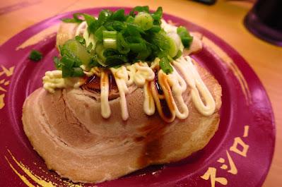 Sushiro, roast pork mayo negi