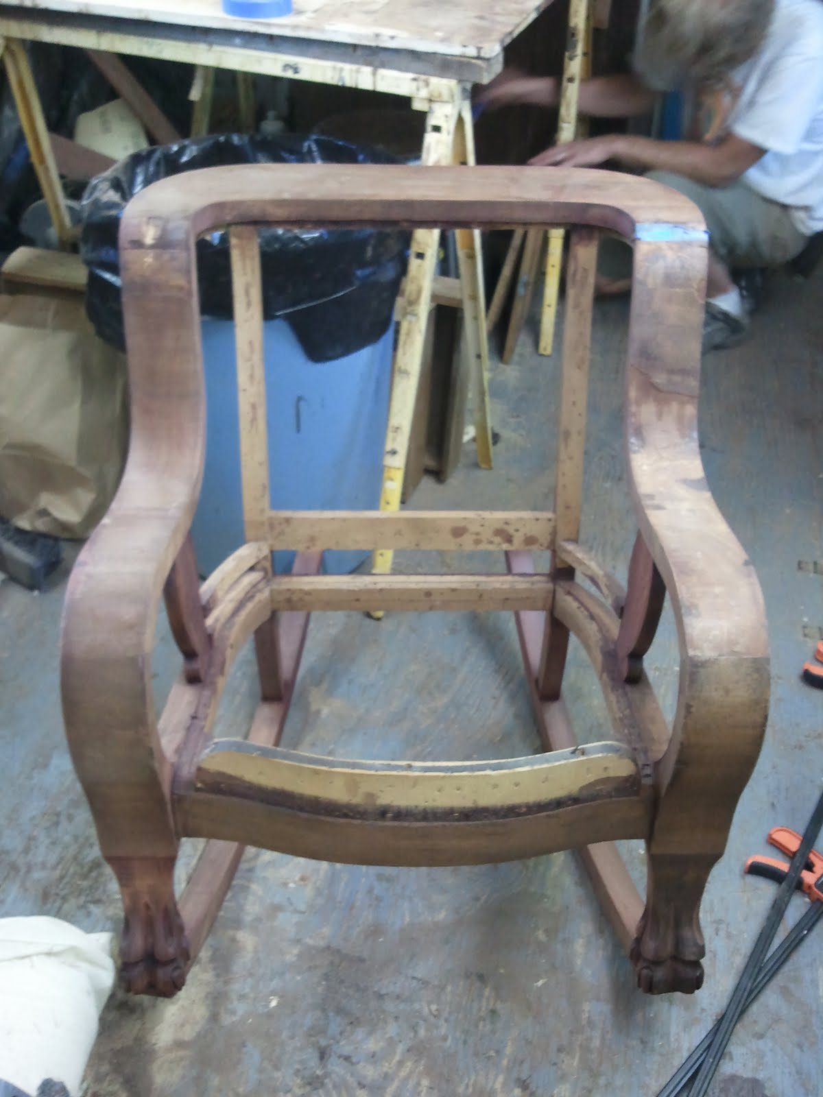 1920s rocking chair the big in fortnite john mark power antiques conservator continuous arm