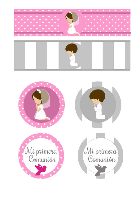 Boy and Girl First Communion: Free Printable Mini Kit.