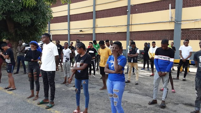 COVID-19:  65 fun seekers arrested for violating the lockdown order in Lagos.