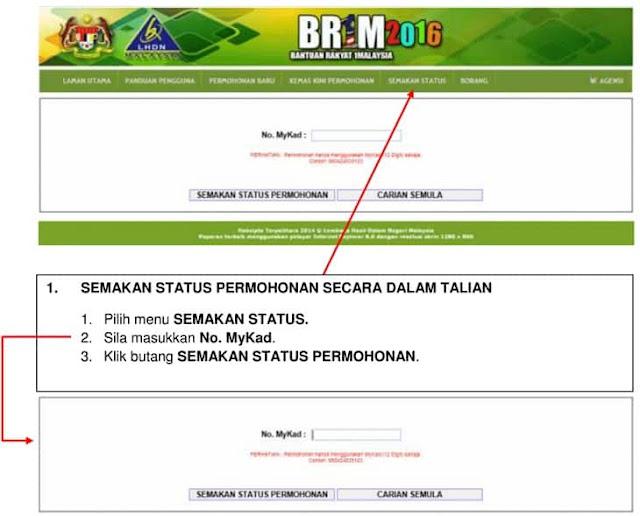 Semakan Status BR1M Online