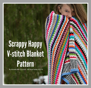 Scrappy Happy V-stitch Blanket Pattern