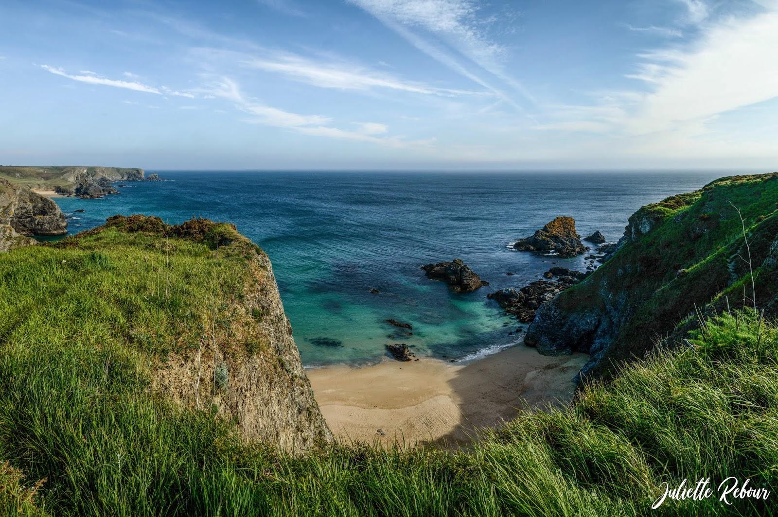 Crique à Belle Ile en mer, Bretagne