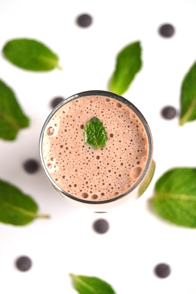 Mint Chocolate Chip Protein Shake - The Nutritionist Reviews