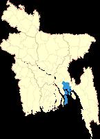 Noakhali District in Bangladesh Map