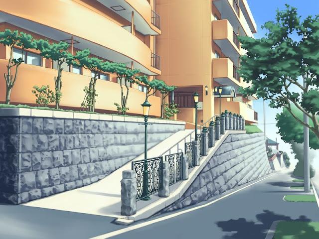 Nice Building Entrance (Anime Background)