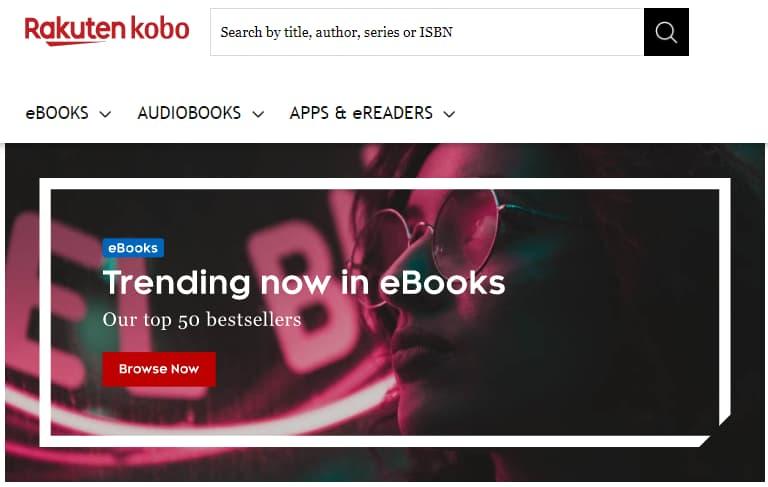 بيع-الكتب-على-الإنترنت-موقع-Kobo