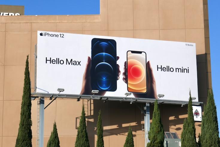 iPhone 12 Hello Max Hello mini billboard