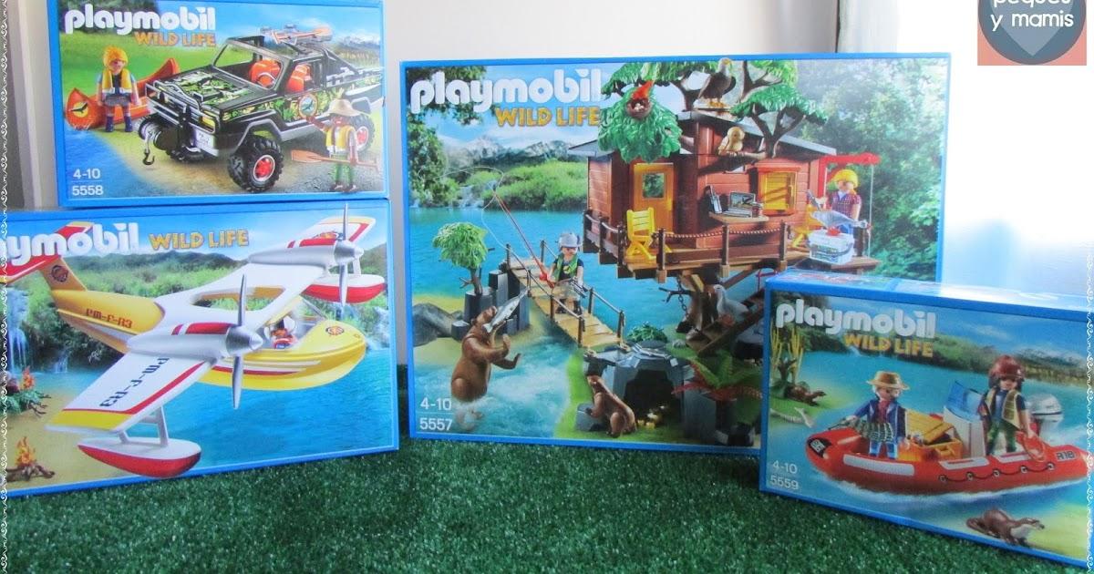 Pequesymamis playsets aventuras playmobil casa del rbol pick up hidroavi n y bote hinchable - Casa del arbol de aventuras playmobil ...