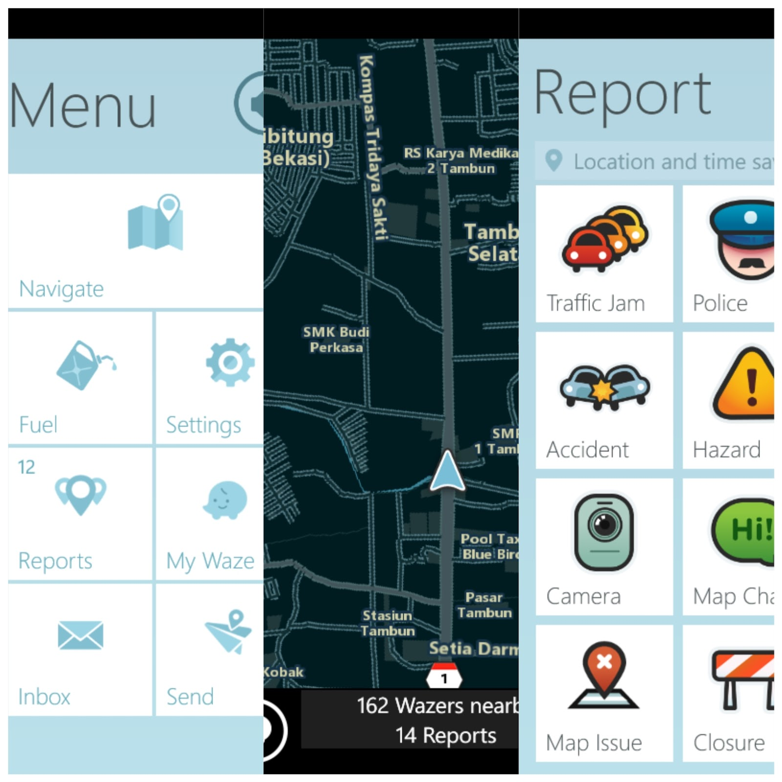 Windows mobile phone: Waze tracking| setting and upgrade