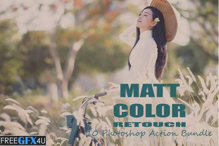 Matt Color Retouch 10 PS Action Bundle