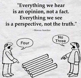 """Everything we hear is an opinion, not a fact. Everything we see is a perspective, not the truth."" - Marcus Aurelius"