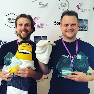 Auszeichnungen für Beste Puppenserie, Publikumspreis und Beste Deutsche Webserie für die TubeHeads