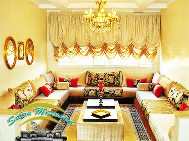 decoration salon marocain 2016. Black Bedroom Furniture Sets. Home Design Ideas