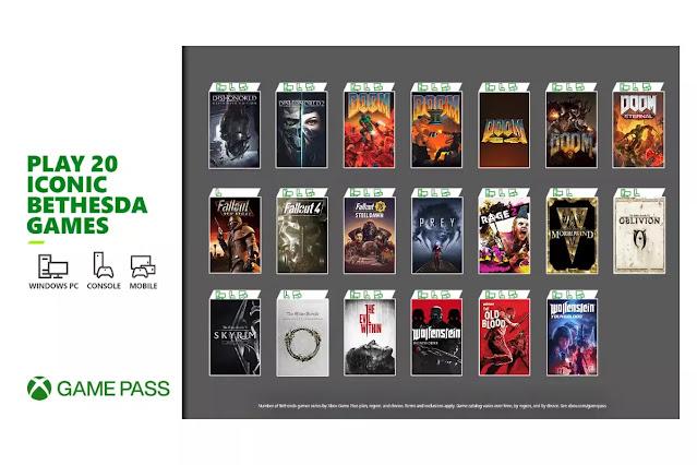 قائمة العاب Bethesda الكاملة المنضمة لخدمة Xbox Game Pass :