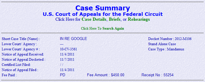 FOSS Patents: Google's appeal of the Lindholm email decision