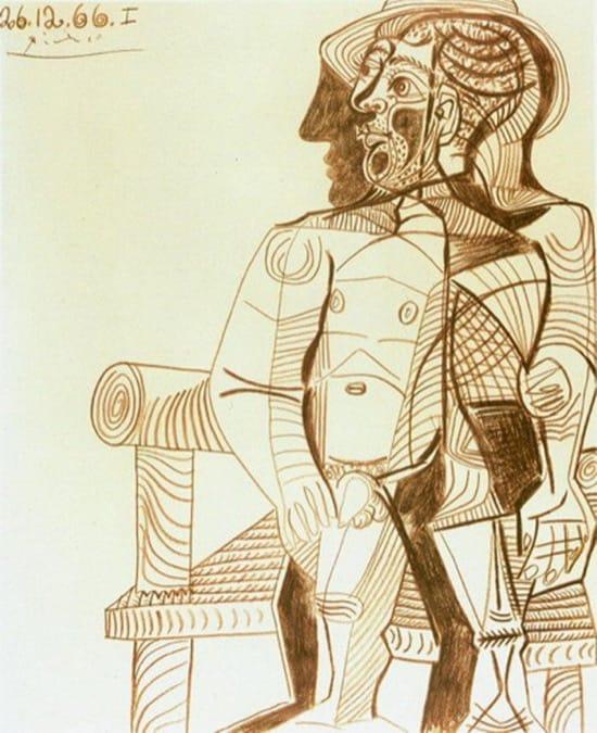 Autorretrato de Picasso en 1966, con 85 años