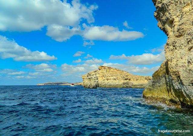 Navegação para a Lagoa Azul, em Malta
