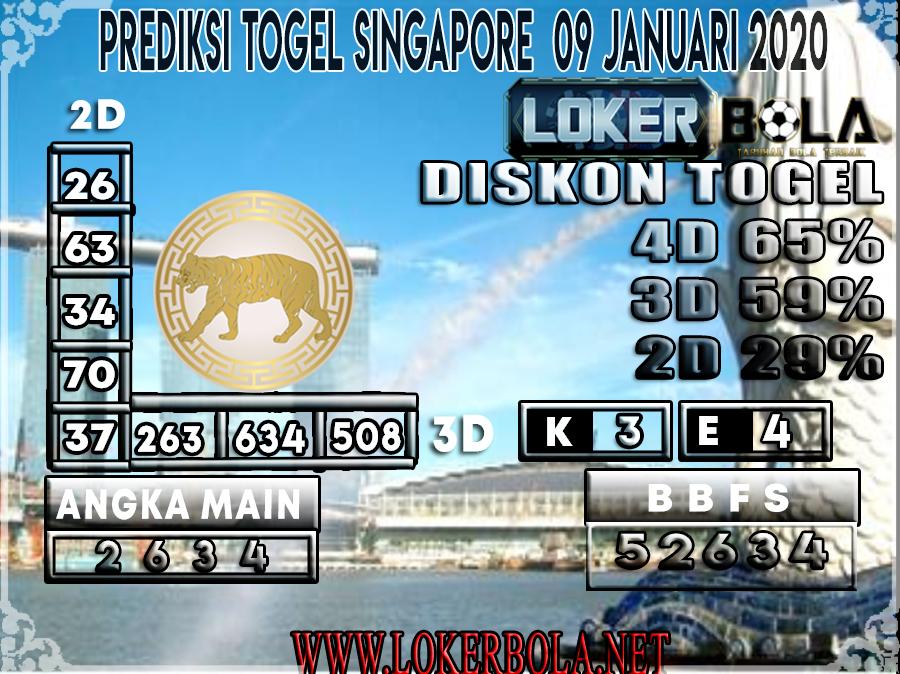PREDIKSI TOGEL SINGAPORE LOKERBOLA 09 JANUARI 2020