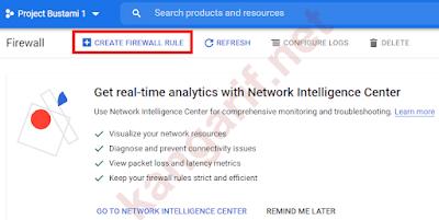 klik create firewall rule