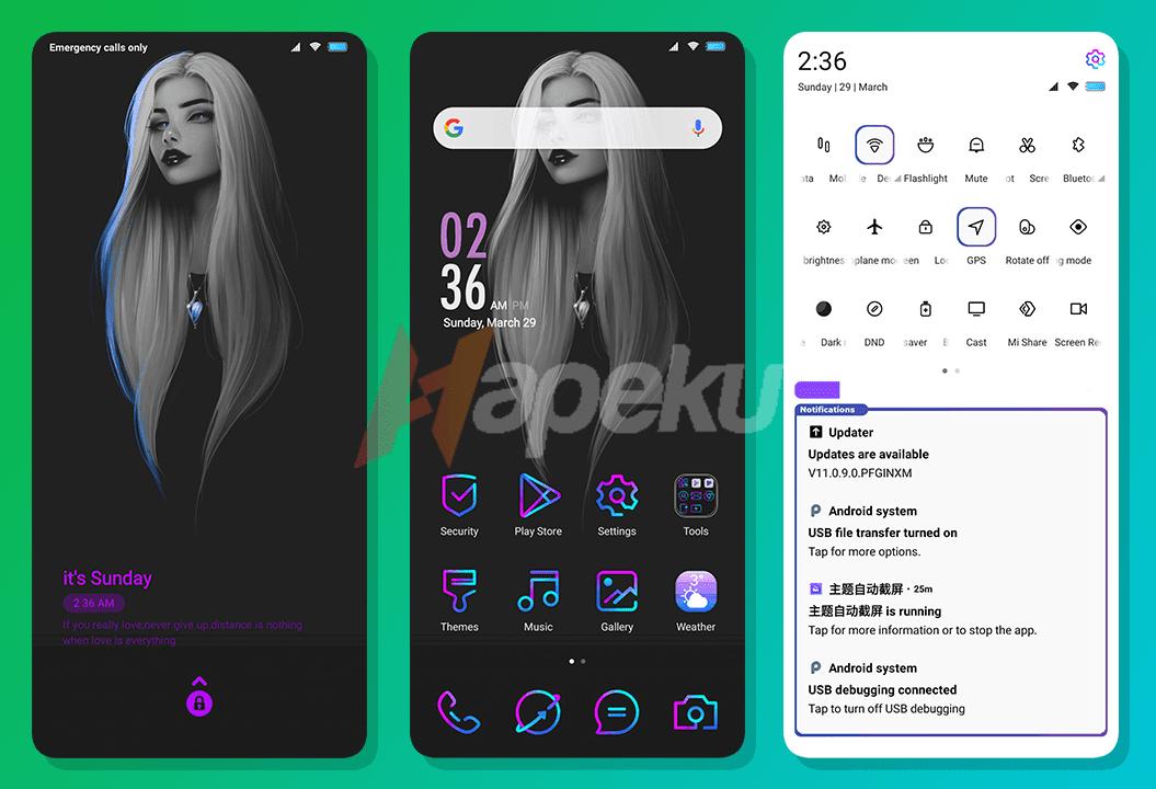 Theme Violet & Dark