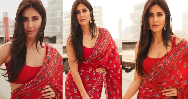 katrina kaif sizzling in saree bollywood actress sleeveless blouse
