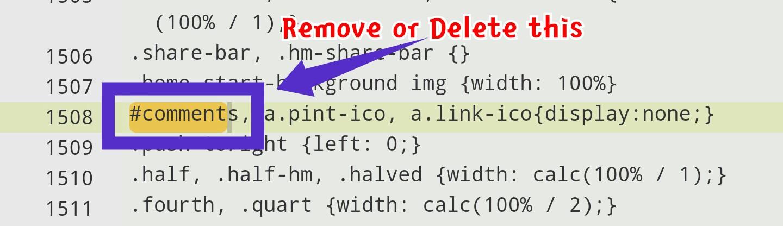 unhide blogger comment box - method 2, step 7