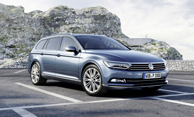 New VW Passat Estate front view