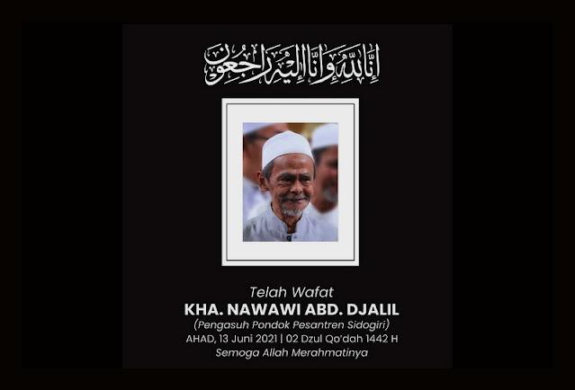 Innalillahi, KH Nawawi Abdul Jalil Pengasuh Pesantren Sidogiri Wafat