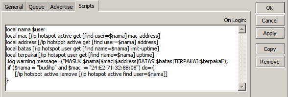 Cara Membatasi Login Hotspot Mikrotik Untuk User dan MAC HP