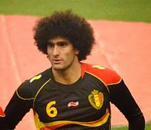 Fellaini with Belgium before a match, he will move to napoli