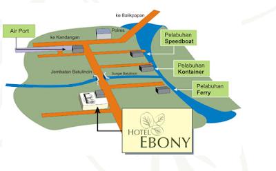 Peta hotel ebony batulicin