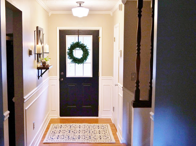 black door in entry