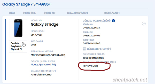 update android oreo s7 edge
