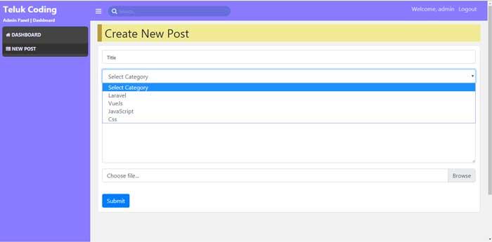 Membuat Blog dengan Laravel & VueJS - #9 | Membuat Kategori & Upload Gambar