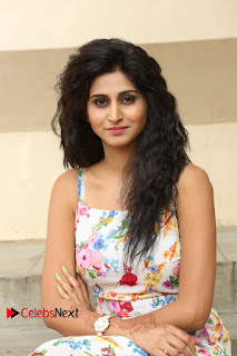 Actress Shamili Stills in Floral Short Dress at Sree Ramaraksha Song Launch 0099