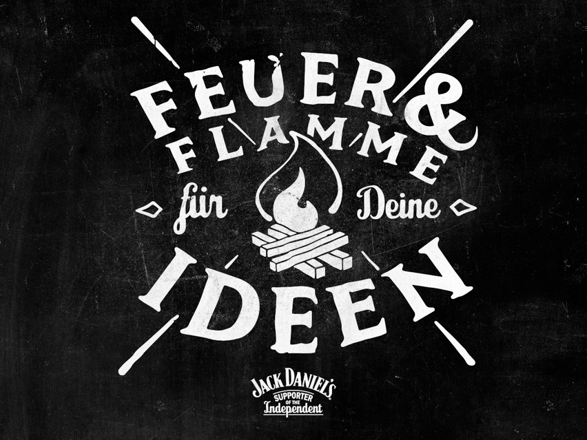 Jack Daniel's ist Feuer & Flamme für Deine Ideen. Supporter of the Independent - Atomlabor Blog