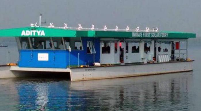 Indias first solar-powered ferry Aditya won Gustave Trouve Award