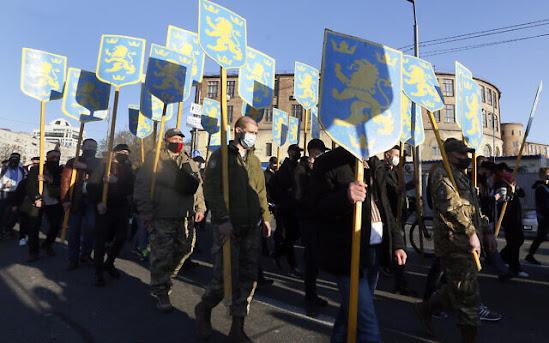 Ukraine OUN-B Biden Bandera Atlantic Council cold war Svoboda diaspora NATO WACL