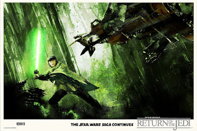 "Star Wars: Return of the Jedi ""I Am a Jedi, Like My Father Before Me"" Screen Print by Jock x Mondo"