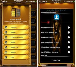 BBM Mod Black Gold Angelic v3.1.0.13 Apk
