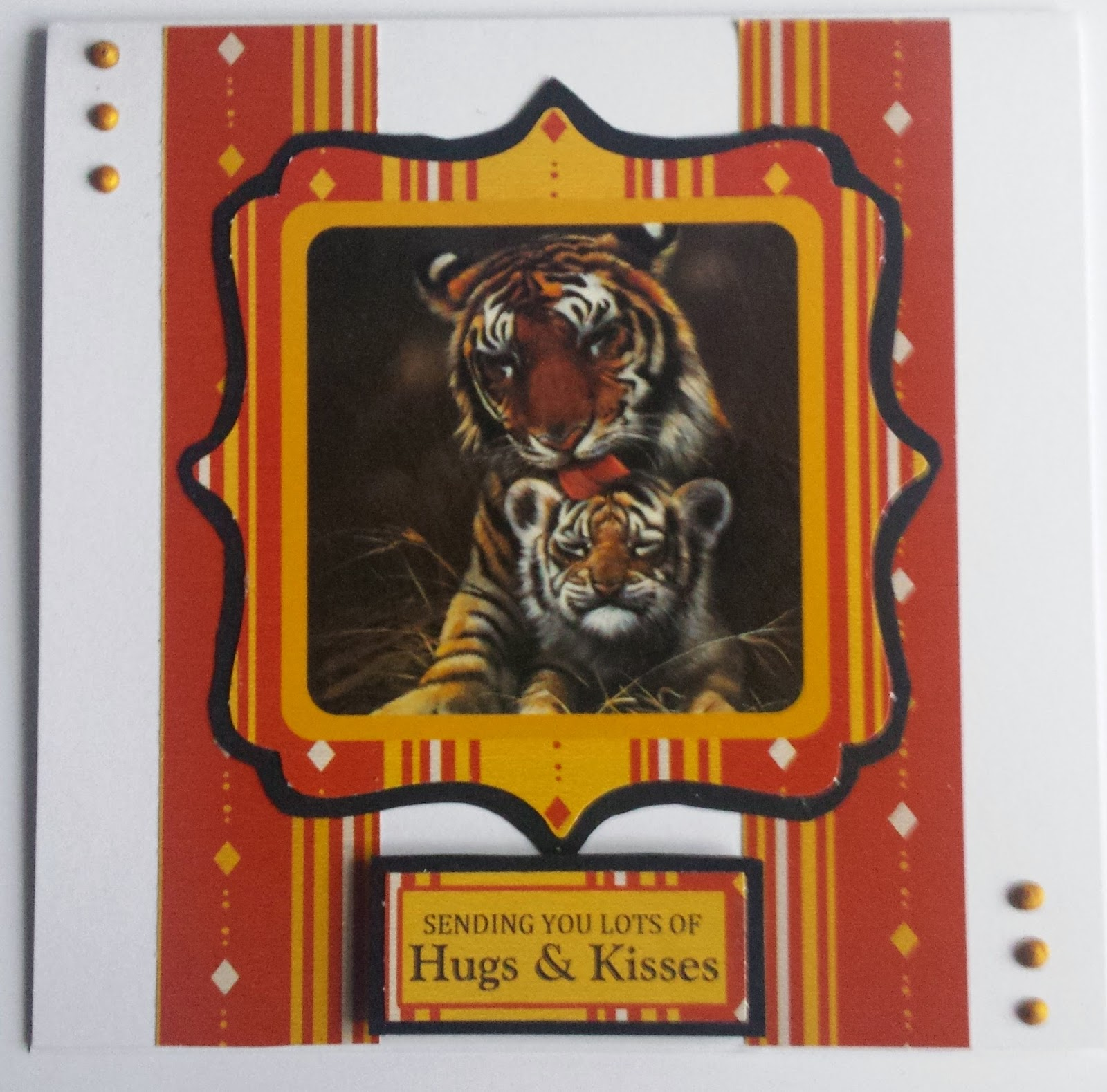 A Mother's Love - Tiger and cub card using Pollyanna Pickering artwork