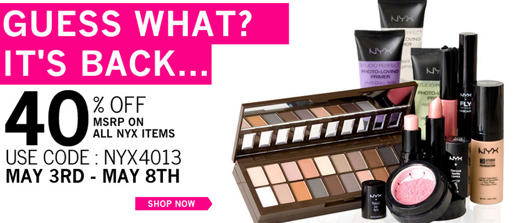 image regarding Nyx Printable Coupon called Nyx coupon code november - Fjerne warm promotions fra personal computer