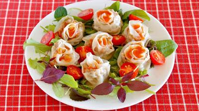 Rose Gyoza Dumplings