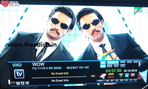Wow / i love / Pen Studio TV channel frequency, channel number on DD freedish